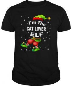 Im The Cat Lover Elf Christmas shirt