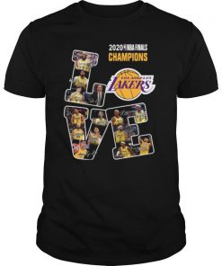 Love Los Angeles Lakers 2020 Nba Finals Champions Signatures shirt