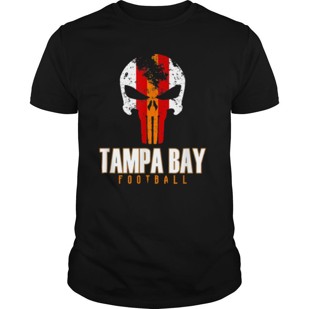 Tampa Bay Varsity Style Retro Football Skull shirt