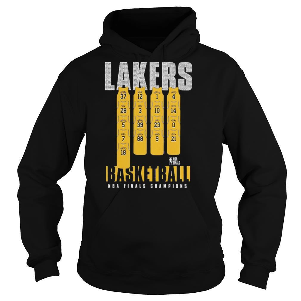 Team Lakers Basketball 2020 NBA Finals Champions shirt