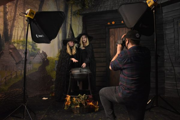 A spooky scene taken by a masked photographer Photo Courtesy of Witch Pix