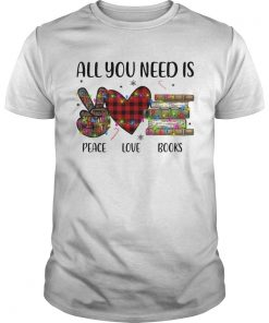 All You Need Is A Peace Love Books Merry Christmas Light  Unisex