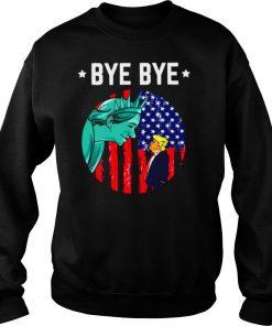 Bye bye trump 2020 trump democratic funny vintage american flag shirt