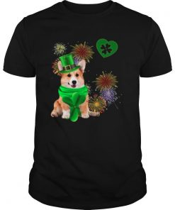 Corgi Dog Shamrock St Patrick Day Dog Irish shirt