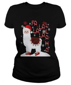 Fa La La Llama Xmas Merry Christmas  Classic Ladies