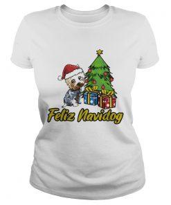 Feliz Navidog Yorkshire Christmas Gift  Classic Ladies