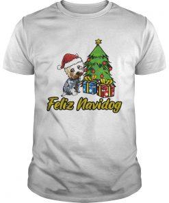 Feliz Navidog Yorkshire Christmas Gift  Unisex