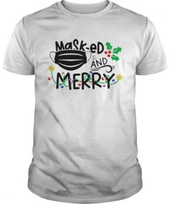 Mask ed and Merry Christmas 2020  Unisex