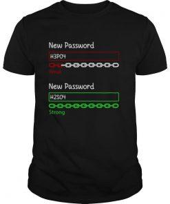 New Password H3po4 Weak New Password H2so4 Strong shirt