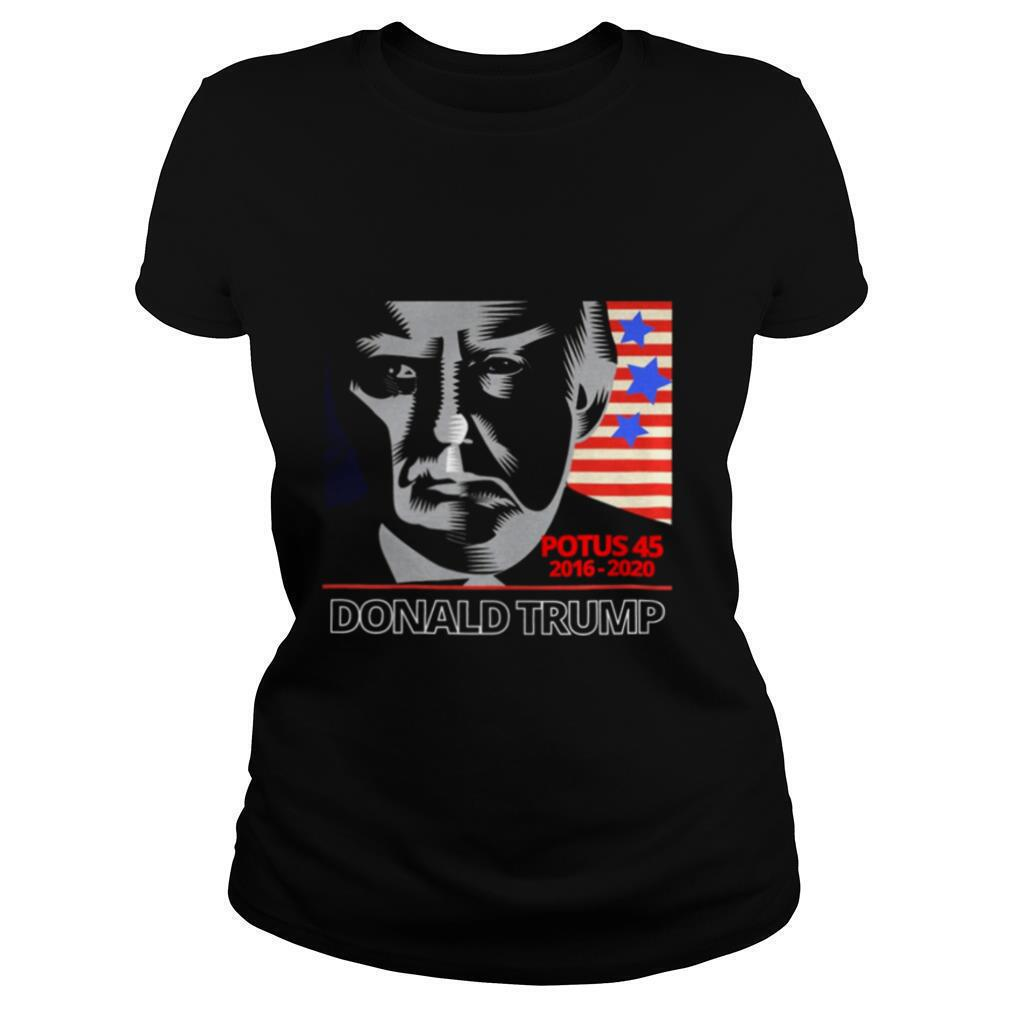 Potus 45 2016 2020 Donald Trump American Flag shirt