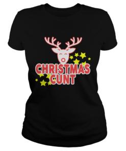 Reindeer Christmas Cunt  Classic Ladies