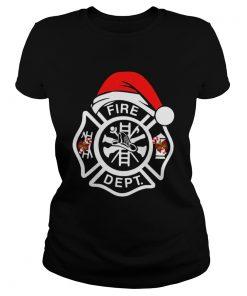 Santa Fire Dept Merry Christmas  Classic Ladies