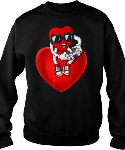 Valentines Day Heart Video Gamer Controller shirt