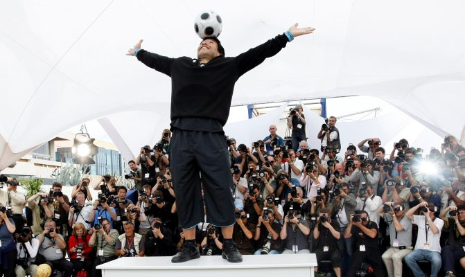 Maradona at the Cannes Film Festival in 2008. His personality, and his excesses, filled out the story of his life.Credit...Eric Gaillard/Reuters