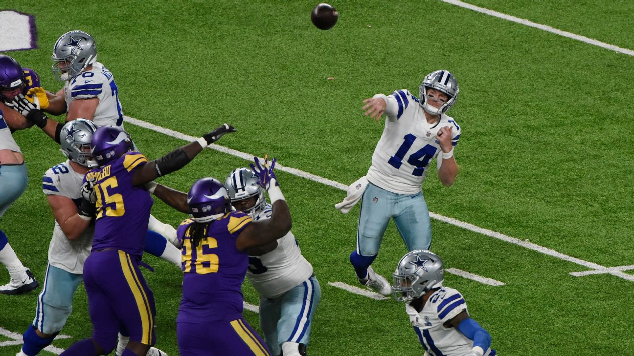 Dallas Cowboys back in NFC East chase after snapping 4-game skid vs. Minnesota Vikings