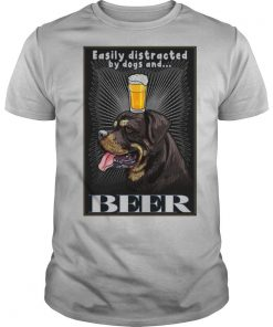 Easily Distracted By Dogs And Beer Vertical Poster shirt