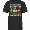 Gnome Lover Just Hangin With My Gnomies Adorable Ugly Christmas T-Shirt Classic Men's T-shirt