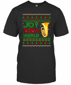 Joy Tuba World Music Lover Xmas Gift Ugly Tuba Christmas T-Shirt Classic Men's T-shirt