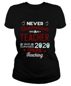 Never Underestimate Teacher Who Survived 2020 Online Teaching shirt