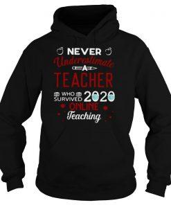 Never Underestimate Teacher Who Survived 2020 Online Teaching shirt
