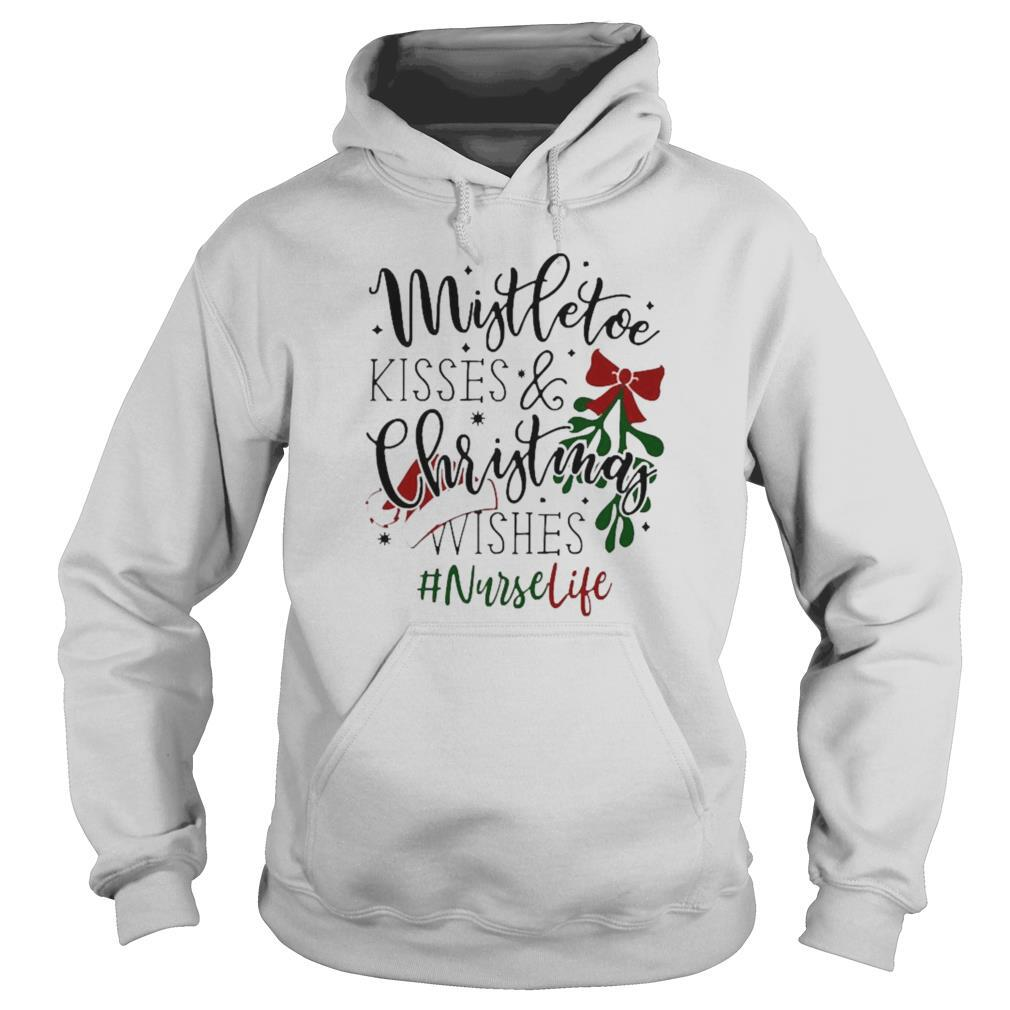 Wide Neck Sweatshirt Trendy Christmas Sweatshirt Christmas Sweater Mistletoe Kisses /& Christmas Wishes Christmas Sweatshirt For Women