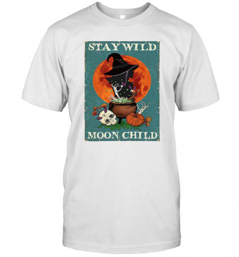 Witch Cat Stay Wild Moon Child T-Shirt Classic Men's T-shirt