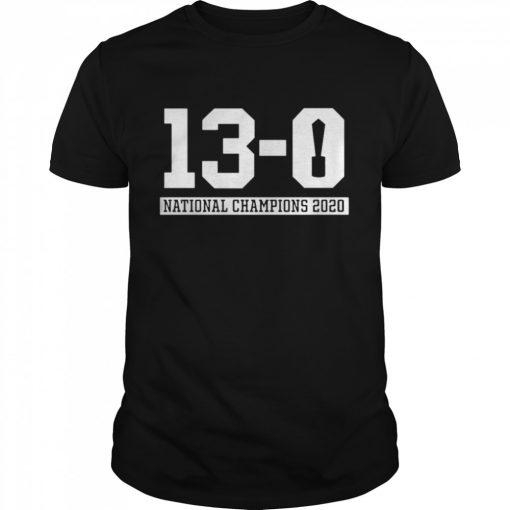 13 0 Alabama National Champions 2021  Classic Men's T-shirt