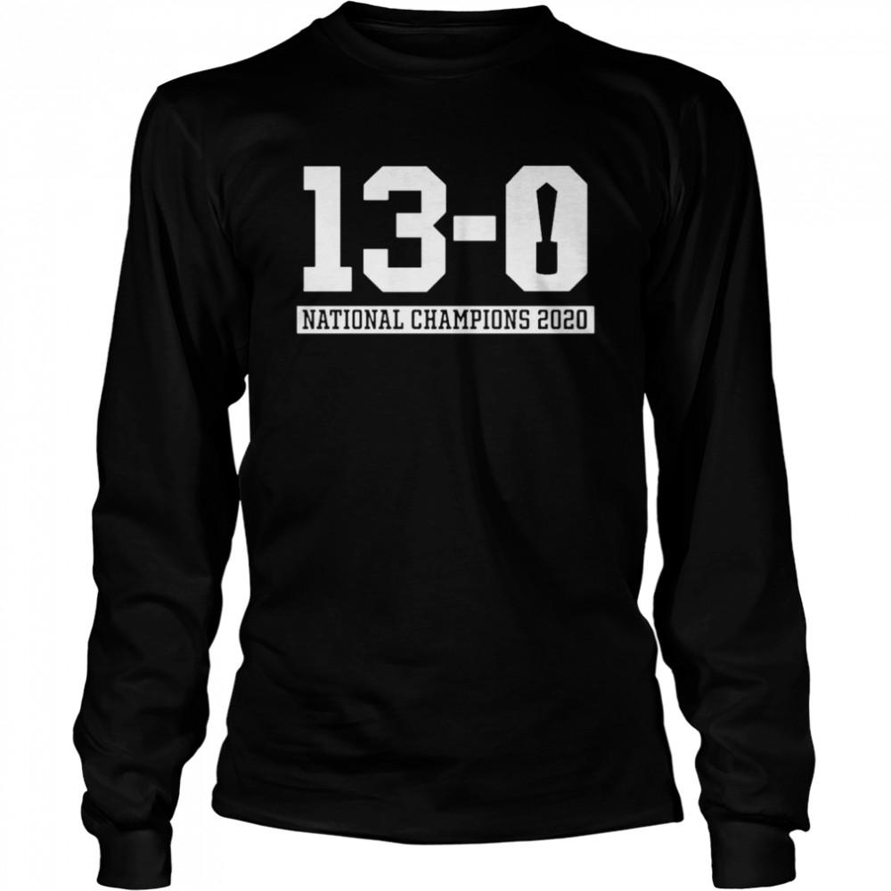 13 0 Alabama National Champions 2021  Long Sleeved T-shirt