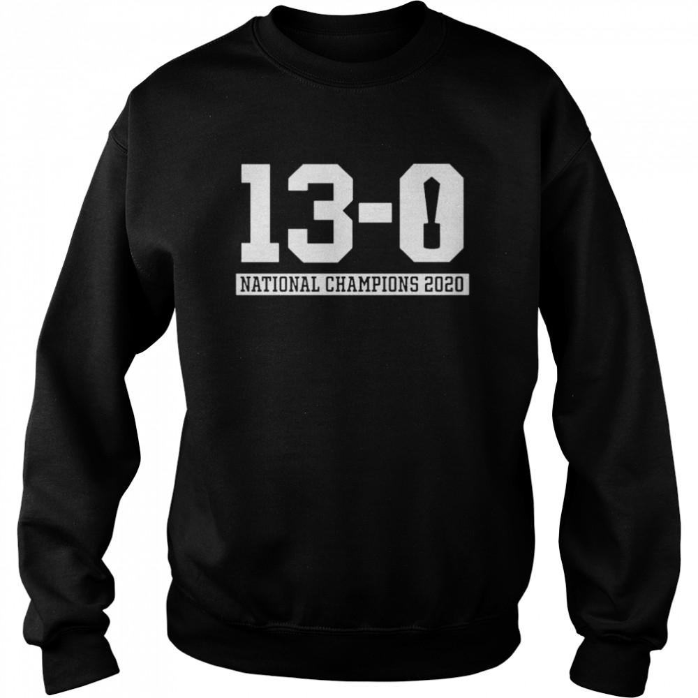 13 0 Alabama National Champions 2021  Unisex Sweatshirt
