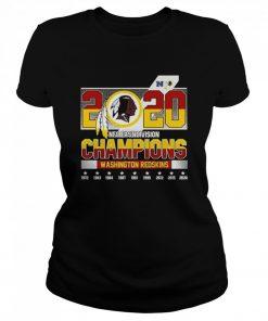 2020 NFC East Division Champions Washington Redskins  Classic Women's T-shirt