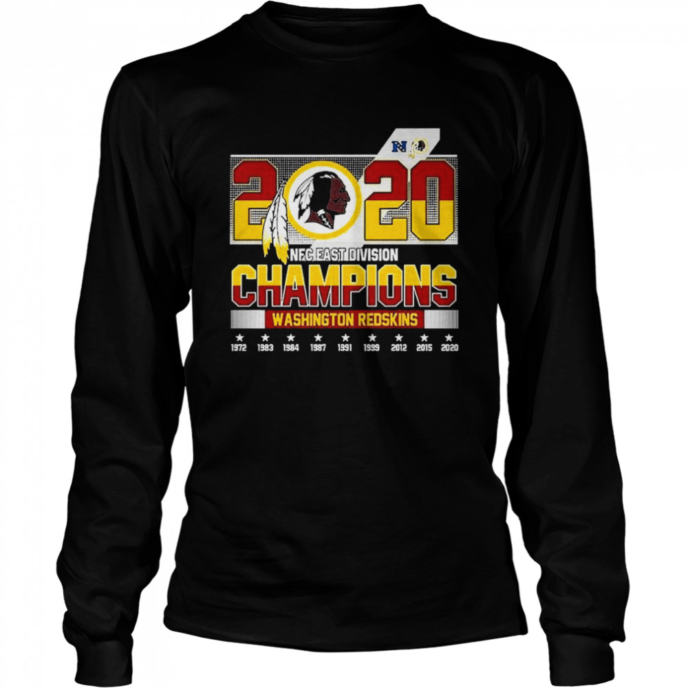 2020 NFC East Division Champions Washington Redskins  Long Sleeved T-shirt