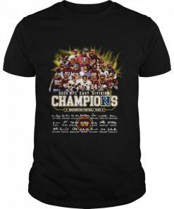 2020 Nfc East Division Champions Washington Football Team Signatures  Classic Men's T-shirt
