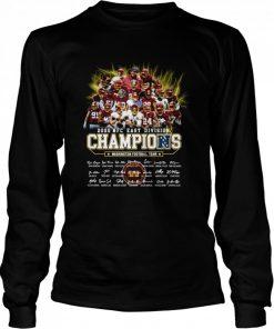 2020 Nfc East Division Champions Washington Football Team Signatures  Long Sleeved T-shirt
