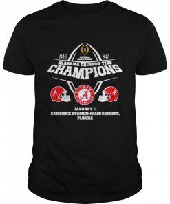 2021 Alabama Crimson Tide Champions January 11 Miami Gardens Florida  Classic Men's T-shirt