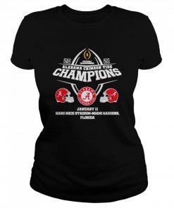 2021 Alabama Crimson Tide Champions January 11 Miami Gardens Florida  Classic Women's T-shirt