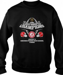 2021 Alabama Crimson Tide Champions January 11 Miami Gardens Florida  Unisex Sweatshirt