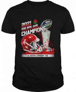 2021 Rose Bowl Game Champions Alabama Crimson Tide  Classic Men's T-shirt
