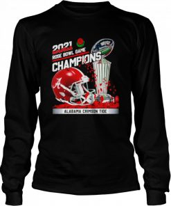 2021 Rose Bowl Game Champions Alabama Crimson Tide  Long Sleeved T-shirt
