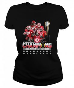 Alabama Crimson Tide 18 Time National Champions Signatures  Classic Women's T-shirt