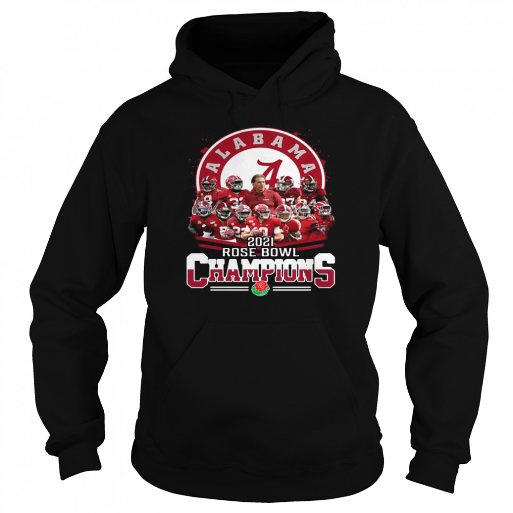 Alabama Crimson Tide 2021 Rose Bowl Champions  Unisex Hoodie