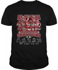 Alabama Crimson Tide CFP national Champions 2021 signatures  Classic Men's T-shirt
