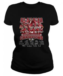 Alabama Crimson Tide CFP national Champions 2021 signatures  Classic Women's T-shirt
