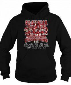 Alabama Crimson Tide CFP national Champions 2021 signatures  Unisex Hoodie