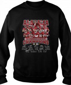 Alabama Crimson Tide CFP national Champions 2021 signatures  Unisex Sweatshirt