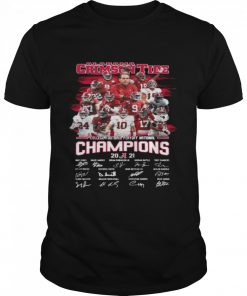 Alabama Crimson Tide College Football Playoff National Champions 2021 Signatures  Classic Men's T-shirt