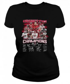 Alabama Crimson Tide College Football Playoff National Champions 2021 Signatures  Classic Women's T-shirt