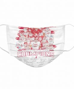 Alabama Crimson Tide College Football Playoff National Champions 2021 Signatures  Cloth Face Mask