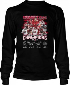 Alabama Crimson Tide College Football Playoff National Champions 2021 Signatures  Long Sleeved T-shirt