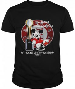 Alabama Crimson Tide Mickey Mouse NCAA national championship 2021  Classic Men's T-shirt