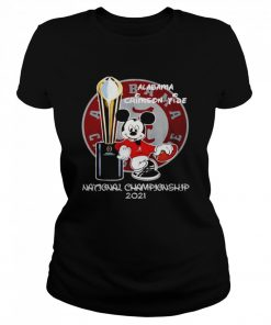 Alabama Crimson Tide Mickey Mouse NCAA national championship 2021  Classic Women's T-shirt